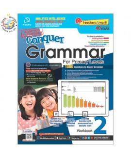 แบบทดสอบภาษาอังกฤษ ป. 2  Conquer Grammar For Primary Levels Workbook 2 + NUADU
