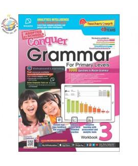แบบทดสอบภาษาอังกฤษ ป. 3  Conquer Grammar For Primary Levels Workbook 3 + NUAD