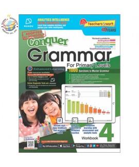 แบบทดสอบภาษาอังกฤษ ป. 4  Conquer Grammar For Primary Levels Workbook 4 + NUADU