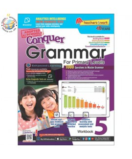 แบบทดสอบภาษาอังกฤษ ป. 5  Conquer Grammar For Primary Levels Workbook 5 + NUADU