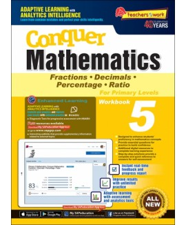CONQUER MATHEMATICS FRACTIONS DECIMALS PERCENTAGE RATIO BOOK 5 แบบฝึกหัดคณิตศาสตร์ ป.5 หนังสือคณิตศาสตร์ ป.5 คณิตศาสตร์ชั้นประถมศึกษา หนังสือเรียนคณิตศาสตร์ หนังสือคณิตศาสตร์ภาษาอังกฤษ แบบเรียนคณิตศาสตร์ เลขป. 5 maths