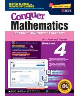 CONQUER MATHEMATICS FACTORS - MULTIPLES - FRACTIONS BOOK 4 แบบฝึกหัดคณิตศาสตร์ ป.4 หนังสือคณิตศาสตร์ ป.4 คณิตศาสตร์ชั้นประถมศึกษา หนังสือเรียนคณิตศาสตร์ หนังสือคณิตศาสตร์ภาษาอังกฤษ แบบเรียนคณิตศาสตร์ เลขป. 4 maths