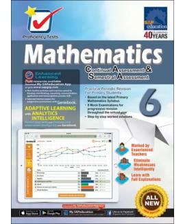 Proficiency Tests Mathematics CA & SA 6 + Geniebook แบบฝึกหัดคณิตศาสตร์ ป.6 หนังสือคณิตศาสตร์ ป.6 คณิตศาสตร์ชั้นประถมศึกษา หนังสือเรียนคณิตศาสตร์ หนังสือคณิตศาสตร์ภาษาอังกฤษ แบบเรียนคณิตศาสตร์ เลขป. 6 maths